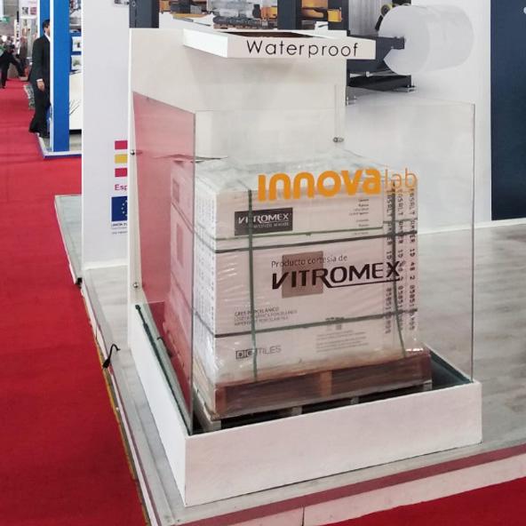 Tarima de Vitromex, cliente de Stretch Hood de Innova