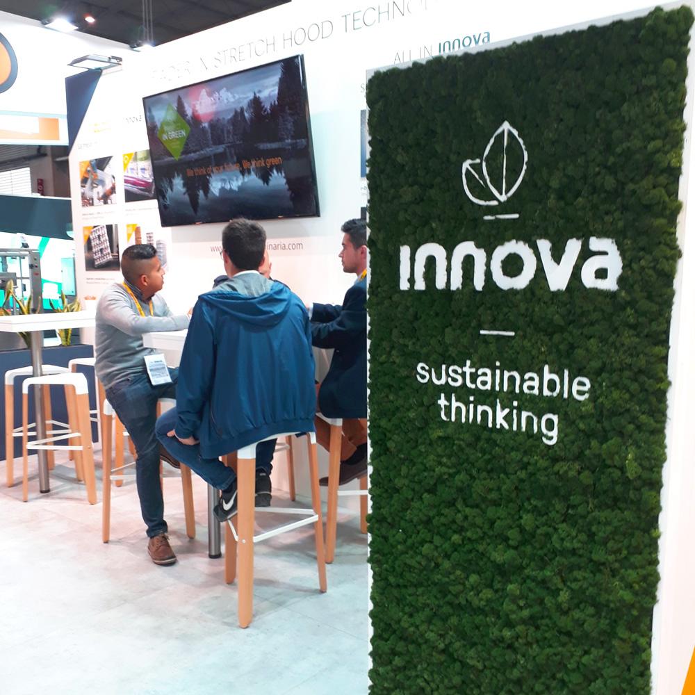 Sustainable Thinking uno de los valores de Innova mostrados en Hispack