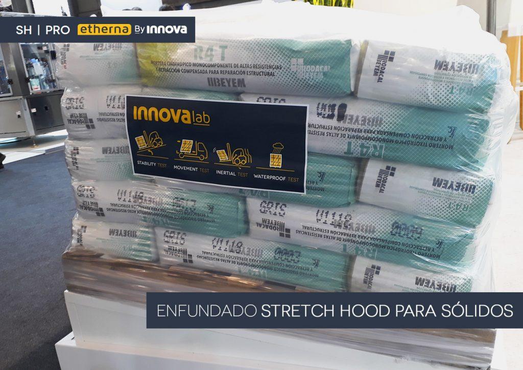Enfundado Stretch Hood para sacos de cemento